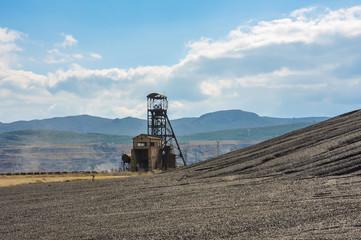 Minería del carbón, antiguo Pozo Elorza, Puertollano, Ciudad Real, Castilla-La Mancha