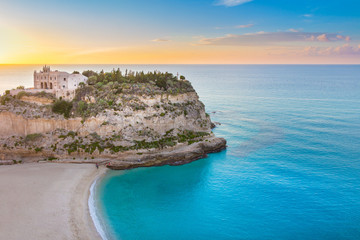 Tropea Calabria Sicily Sunset Wall mural