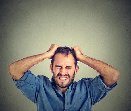 desperate stressed man