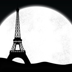 Paris Eiffelturm im Mondlicht / Eiffel Tower in Moonlight