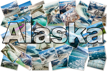 Alaska Glaciers collage