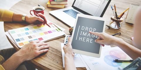 People Meeting Corporate Design Creativity Laptop Concept