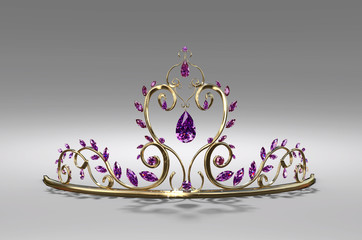 Prom Tiara  A tiara of gold set with amethysts - perfect for a  princess or the prom.