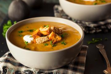 Homemade Hot Butternut Squash Soup