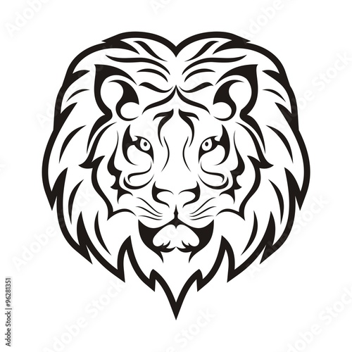 lion face tribal template stock image and royalty free vector files