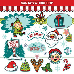 Santa's workshop Christmas holiday collection