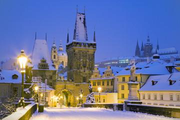 Charles bridge, Lesser Town bridge tower, Prague (UNESCO), Czech republic, Europe