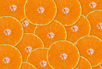 Abstract background with citrus-fruit of Close-up orange slices