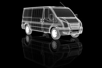 Transporter II als Gitternetz