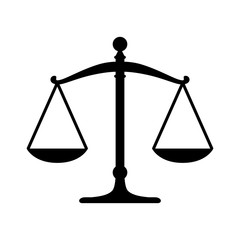 Scales of justice flat icon for apps and websites