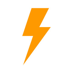 Lightning bolt expertise flat icon for apps and websites