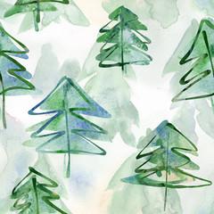 Fir Trees Seamless Pattern