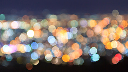 Abstract defocused light for background