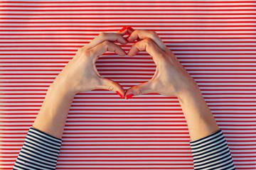 Hands showing heart shape gesture