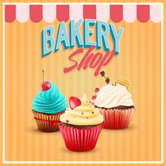 BAKERY SHOP CUPCAKE SWEET