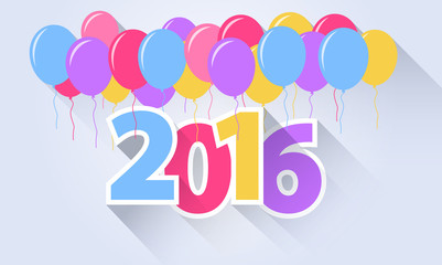 2016 Colored Balloons