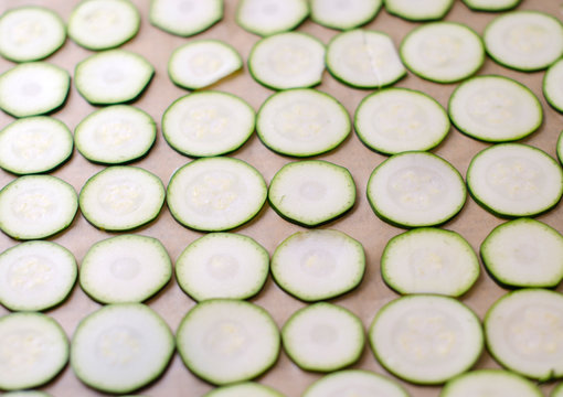 Rohkost Zucchini Chips