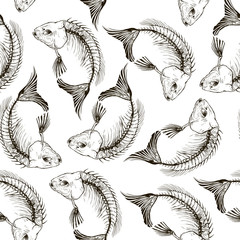 pattern Fish skeleton