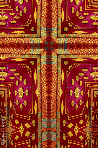 Garden Kaleidoscope At Olbrich >> Kaleidoscope Cross Gold And Red Ceiling Detail Thai Pavilion At