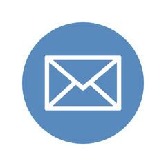 Envelope contour symbol, mail icon
