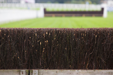 Fence On Horse Racing Track