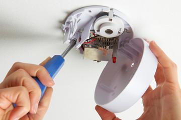 Installing Smoke Detector At Home