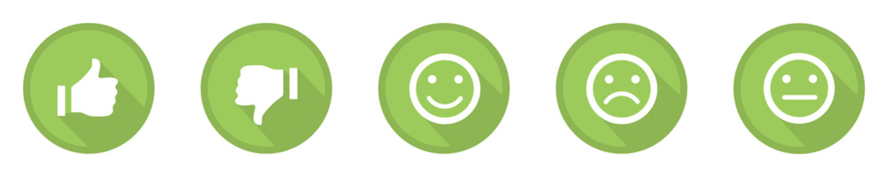 green business feedback top icons