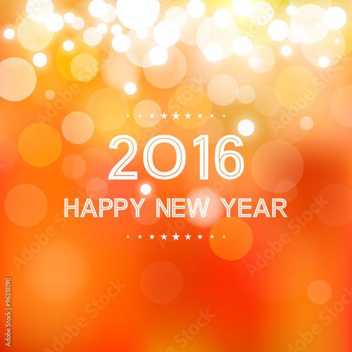 Happy New Year Orange 101