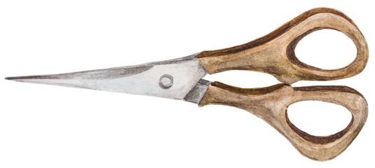 Watercolor scissors