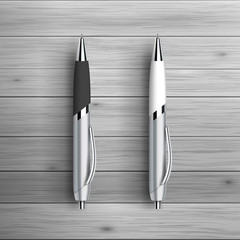 Two blank ball pens