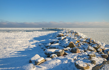 Baltic sea in winter.
