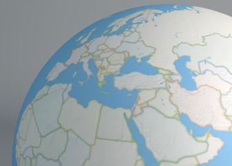 Cartina Europa E Medio Oriente.Cartina Politica Dell Europa E Africa Citta Europee Cartina Politica Con Confine Degli Stati Aree Urbane Wall Mural Naeblys