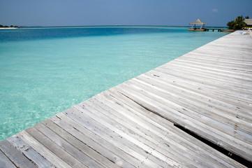 Wood Jetty - Maldives