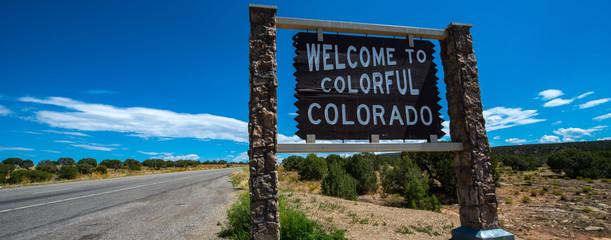 Colorado road sign Wall mural