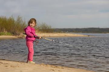 child fishing