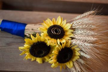Wedding bouquet,rings