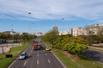Traffic in Avenue Infante Dom Henrique in Rio de Janeiro