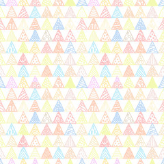 Abstract pattern of triangles light pastel