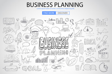 Business Planning  concept with Doodle design style