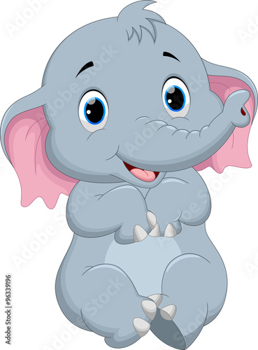 Quot Cute Elephant Cartoon Quot Stock Image And Royalty Free
