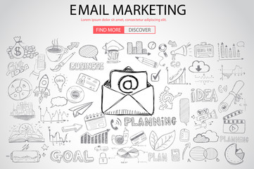 Email Marketing with Doodle design style