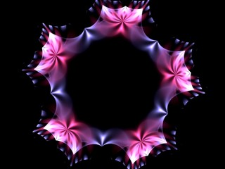 Decorative floral wreath fractal abstract background
