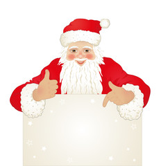 Santa Claus with billboard, 