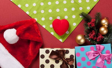 heart shape toy and christmas gifts