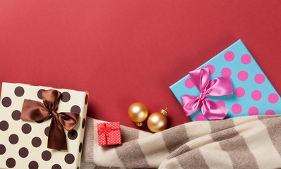 Scarf and christmas gifts