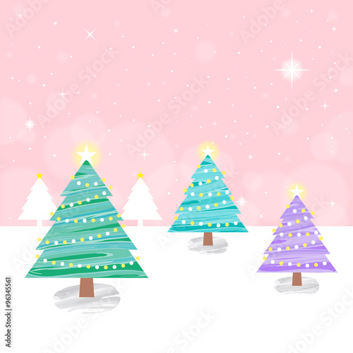Cute Christmas Tree Blue Background Stock Image And Royalty Free Vector Files On Fotolia