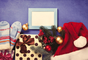 Photo frame and christmas gifts