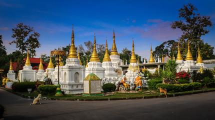 Beautiful thai temple, Wat Je Di Sao Lang, Lampang, Thailand