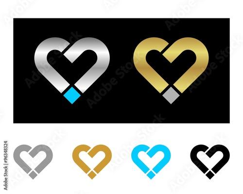 quotj letter love heart logoquot imagens e vetores de stock