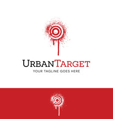 spray painted target logo concept